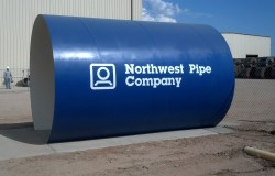Northwest Pipe Co. Safety Tunnel Lettering